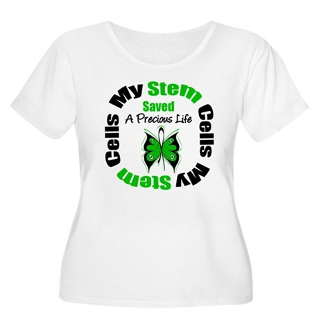 Stem Cells Saved Life Women's Plus Size Scoop Neck