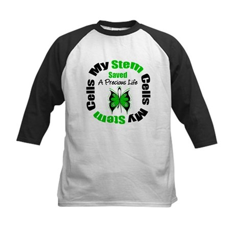 Stem Cells Saved Life Kids Baseball Jersey