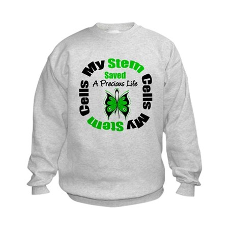 Stem Cells Saved Life Kids Sweatshirt