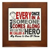 HERO Comes Along 1 Nana LUNG CANCER Framed Tile