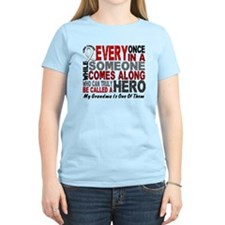 HERO Comes Along 1 Grandma LUNG CANCER T-Shirt