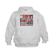 HERO Comes Along 1 Grandma LUNG CANCER Hoodie