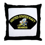 Cute Navy seabee Throw Pillow