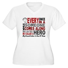 HERO Comes Along 1 Grandfather LUNG CANCER T-Shirt