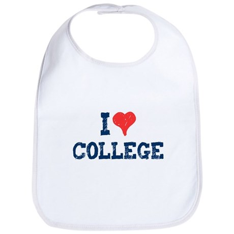 I Love College Bib