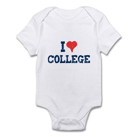 I Love College Infant Bodysuit