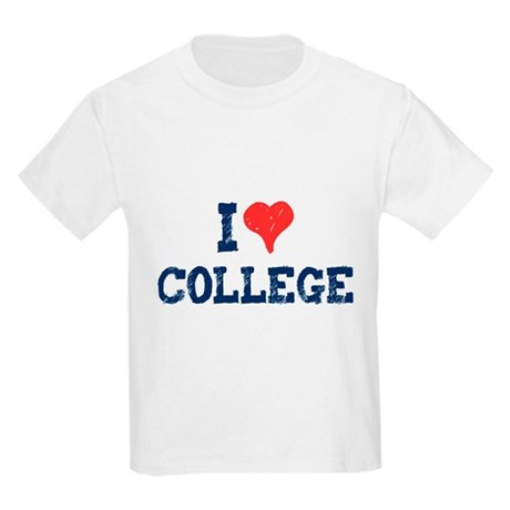 I Love College Kids Light T-Shirt