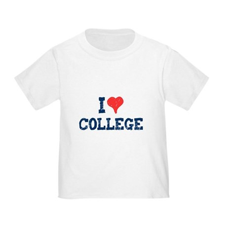 I Love College Toddler T-Shirt