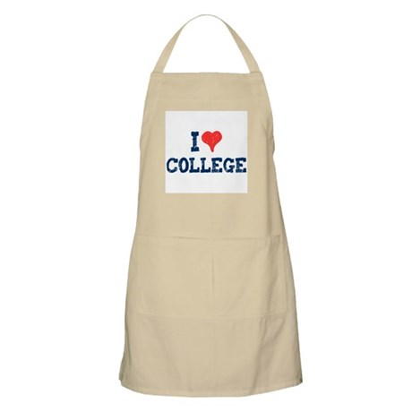 I Love College BBQ Apron