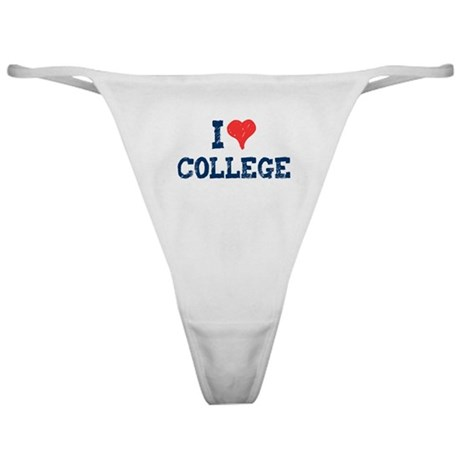 I Love College Classic Thong