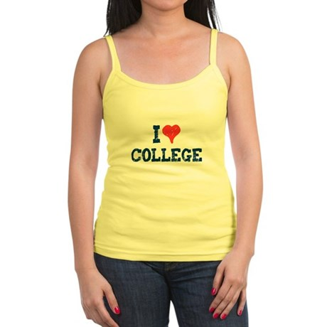 I Love College Jr Spaghetti Tank