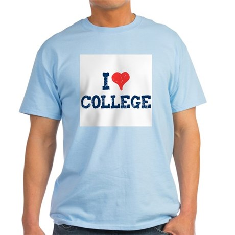 I Love College Light T-Shirt