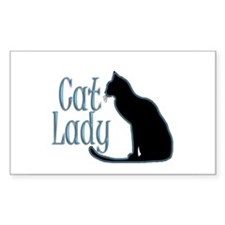 Cat Lady Rectangle Stickers