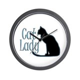 Cat Lady Wall Clock