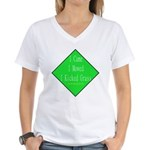 I Kicked Grass Women's V-Neck T-Shirt