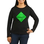 I Kicked Grass Women's Long Sleeve Dark T-Shirt