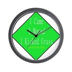 I Kicked Grass Wall Clock