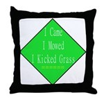 I Kicked Grass Throw Pillow