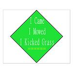 I Kicked Grass Small Poster