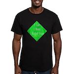 I Kicked Grass Men's Fitted T-Shirt (dark)