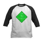 I Kicked Grass Kids Baseball Jersey