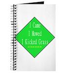 I Kicked Grass Journal
