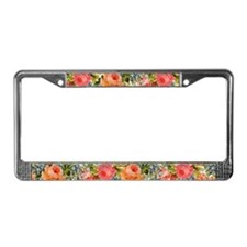 Cute Flower License Plate Frame