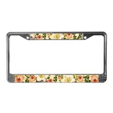 Unique Flower License Plate Frame