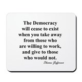 """End of Democracy"" Mousepad"