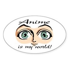 Anime is My World Girls Eyes Oval Decal