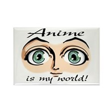 Anime is My World Girls Eyes Rectangle Magnet (10