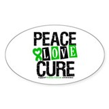 Kidney Cancer Cure Oval Sticker (50 pk)