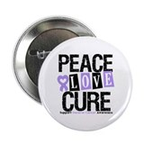 "PeaceLoveCure Lung Cancer 2.25"" Button"