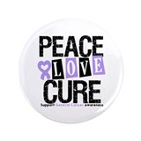 "PeaceLoveCure Lung Cancer 3.5"" Button"