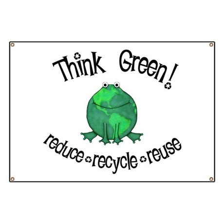 Earth Day Frog Banner