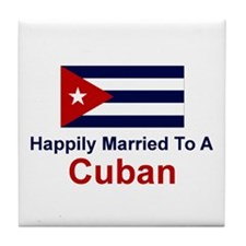 Happily Married To Cuban Tile Coaster