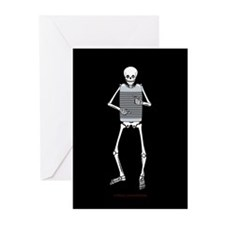 Rubboard Skeleton Greeting Cards (Pk of 20)
