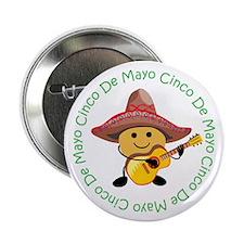 """Cute Cinco De Mayo 2.25"""" Button"""