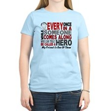 HERO Comes Along 1 Friend LUNG CANCER T-Shirt