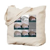 Tic Tac Toe Hedgehog Tote Bag