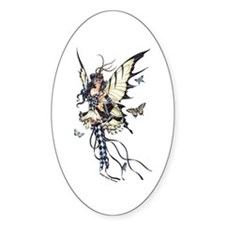 Harlequin Fairy Oval Decal