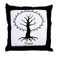 TreecTr Throw Pillow