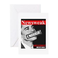 """Enough! Impeachment Inevitable "" Greeting Card"