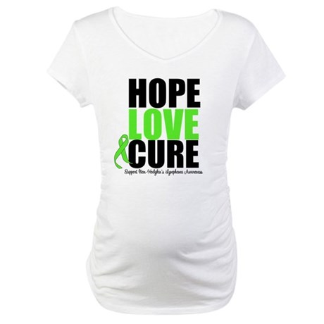 NonHodgkins HopeLoveCure Maternity T-Shirt