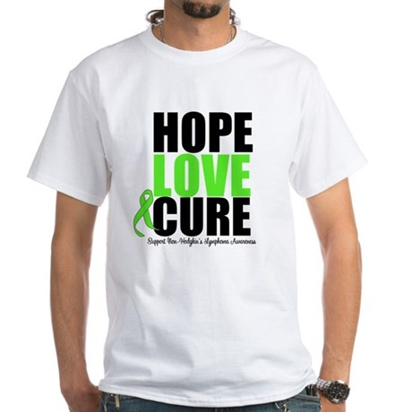 NonHodgkins HopeLoveCure White T-Shirt