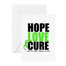 NonHodgkins HopeLoveCure Greeting Cards (Pk of 10)