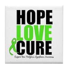 NonHodgkins HopeLoveCure Tile Coaster