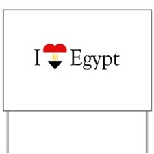 I Love Egypt Yard Sign