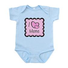 I Love Meme Infant Bodysuit