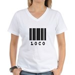 Loco Barcode Design Women's V-Neck T-Shirt